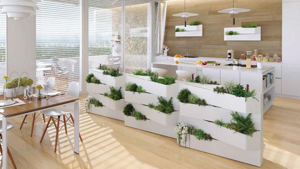 plantevæg indendørs