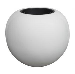 Hvid rund krukke