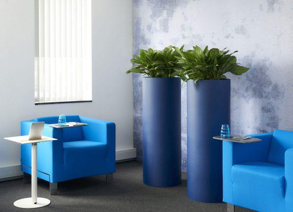 Parel Pedestal / Expert Deco-Saule in matt sapphire blue